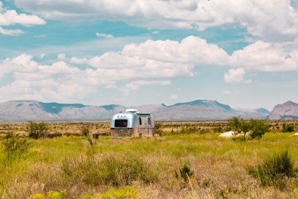 Airstream in the desert