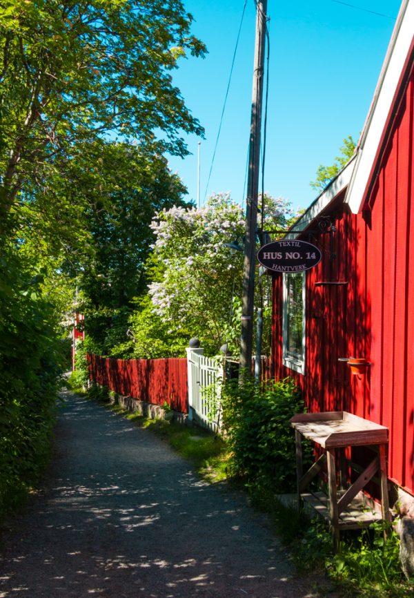 Quaint streets of Vaxholm