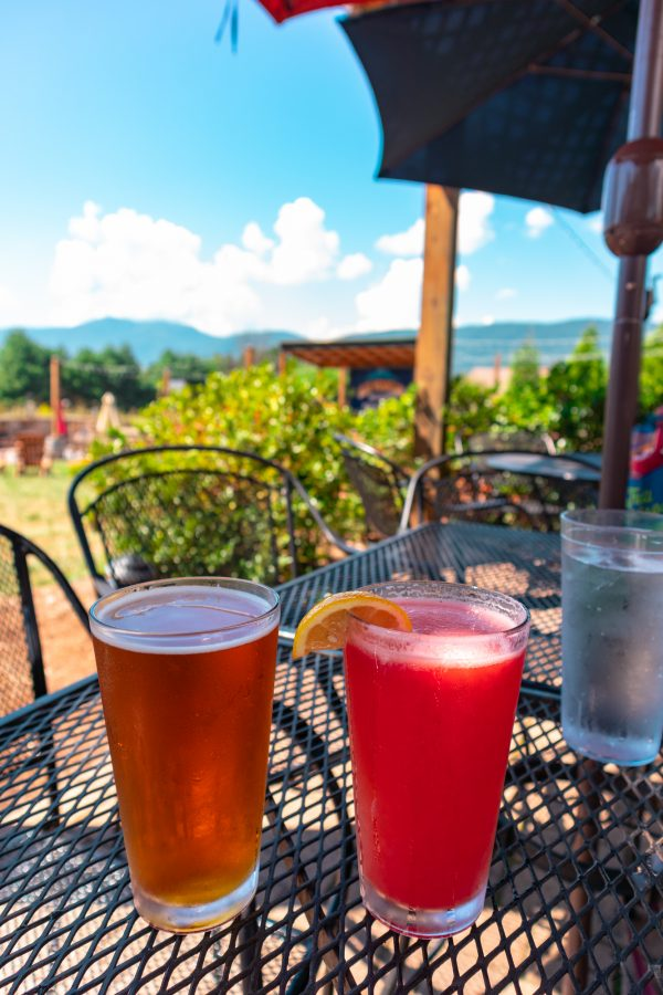 Beers at Blue Mountain Brewery, Virginia