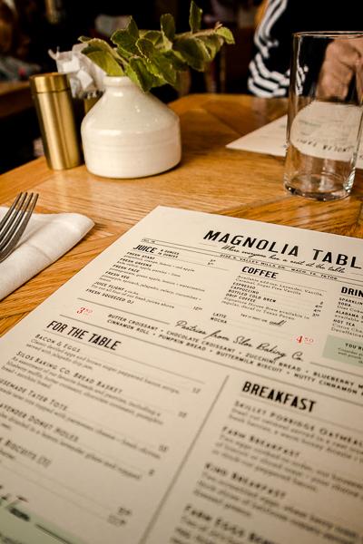Menu at Magnolia Table