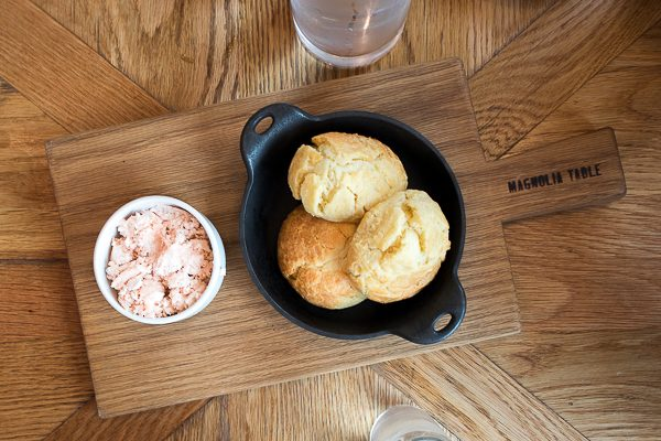 Biscuits and Strawberry butter at Magnolia Table