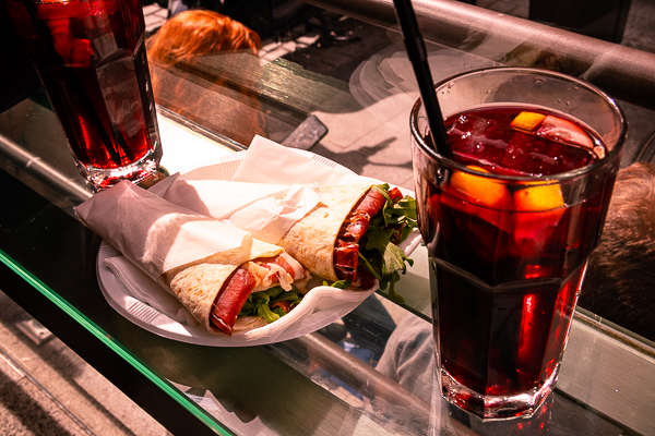Sangria at Mercado San Miguel in Madrid