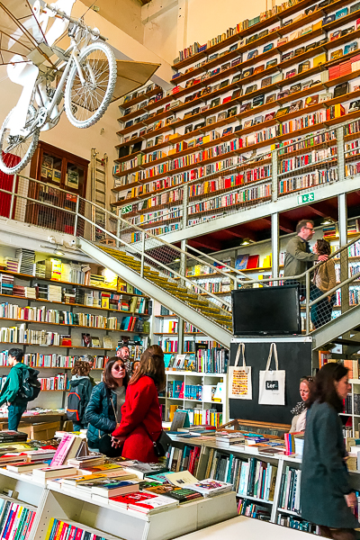 Bookstore at LX Factory in Lisbon, Portugal