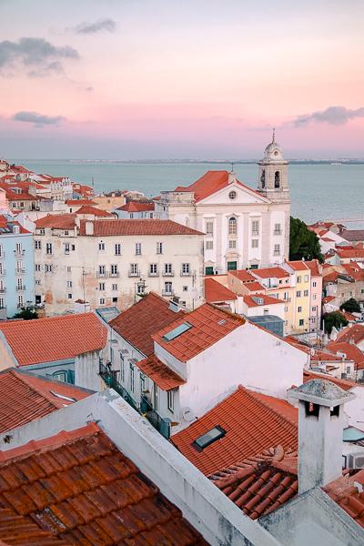 Sunset at Mirodouro de Sol Alfama, Lisbon,