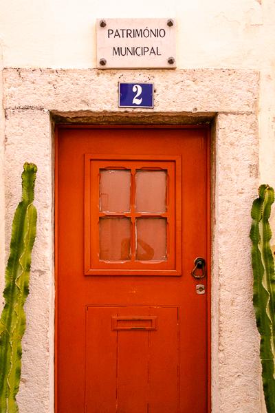Door in Alfama, Lisbon, Portugal
