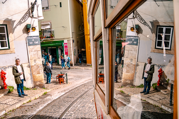 View from Lisbon's 28 Tram